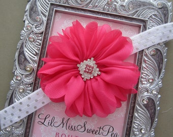 Hot Pink Petal Flower with Silver Accents