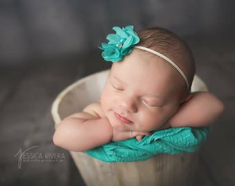 Chiffon 2 inch Petal Blossom Headband by Lil Miss Sweet Pea Boutique, photo prop, newborn, baby girl headband