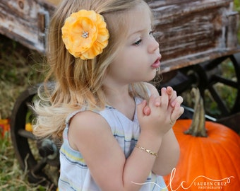 Pretty Yellow Clip for Fall - on an alligator clip but you may order as a headband