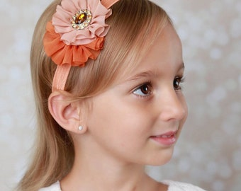 Fall Colors - Headband is perfect for all ages or on can be made on an alligator clip by Lil Miss Sweet Pea