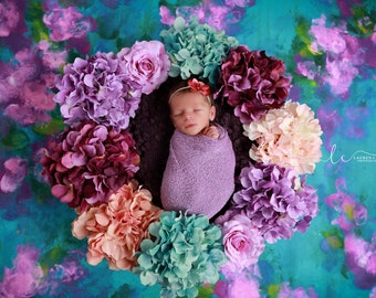 Lilac Wrap AND/OR Headband, perfect for photo shoots, flower measures 1.5 inches, newborn swaddle, bebe, foto, by Lil Miss Sweet Pea