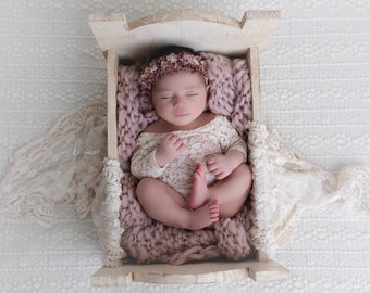 Newborn lace romper, 3 color choices, unlined, photoshoot, bebe foto, baby shower gift, Lil Miss Sweet Pea