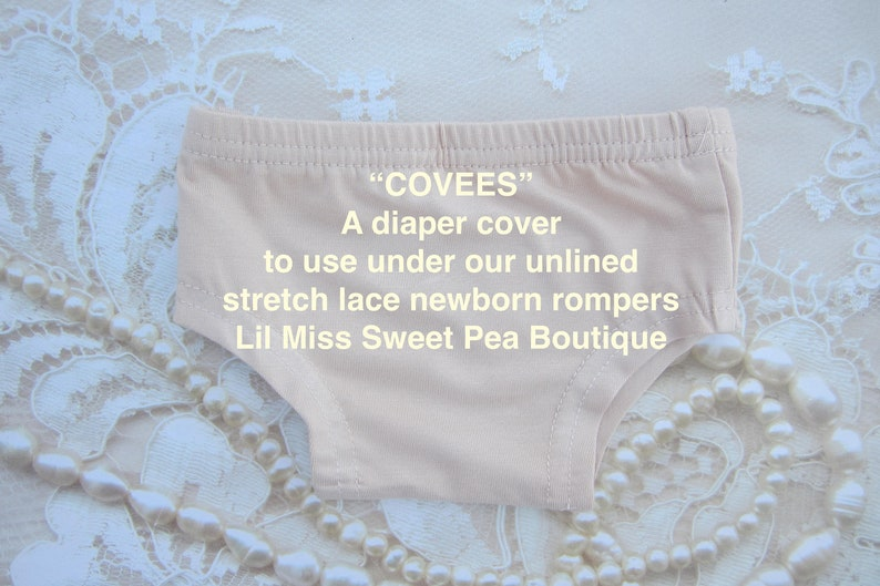 COVEES  A soft nude colored diaper cover meant to be used image 0