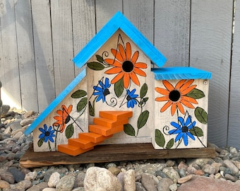 Birdhouse, Rustic Condo Birdhouse, Cedar Wooden Birdhouse, Large Bird House Post Mount Condo Birdhouse, Farmhouse Birdhouse, Primitive House