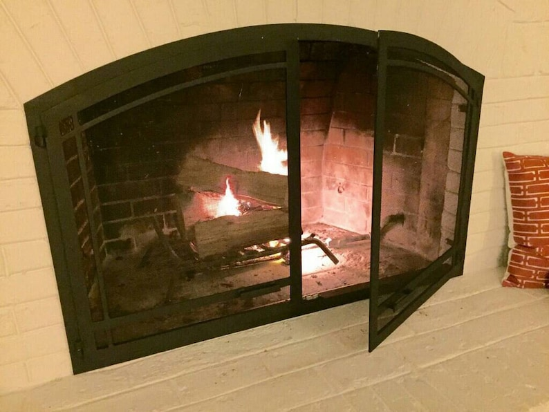 Arched Fireplace Screen Doors Etsy