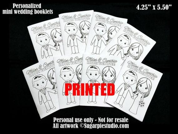 PRINTED Wedding activity books x5 Favor Kids mini size 4.25 x 5.5