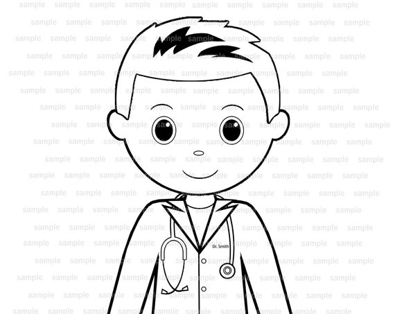 Doctor Retirement coloring page Party Favor childrens kids coloring page activity PDF or JPEG file