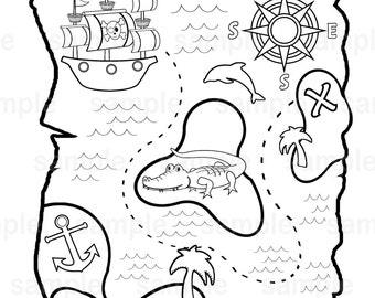 pirate treasure etsy