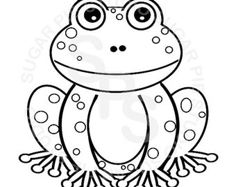 Frog coloring page   Etsy