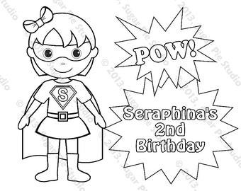 Personalized Printable Twins SuperHero Super hero Girl   Etsy