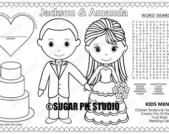 Wedding placemat   Etsy
