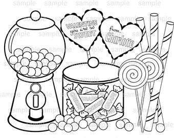 Valentine S Day Teacher S Classroom Coloring Page Pdf Etsy