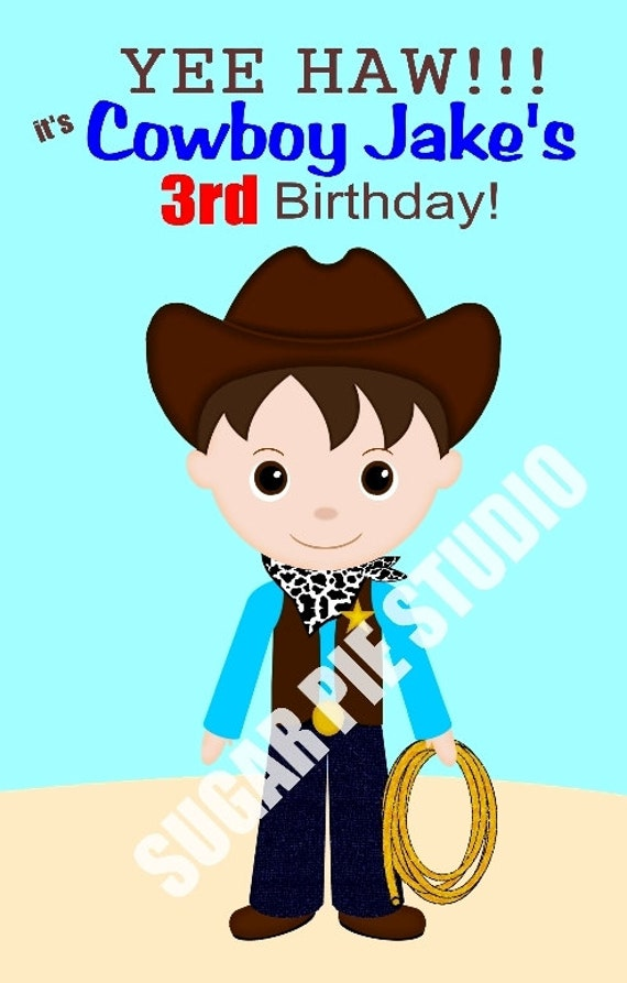 Cowboy coloring activity book PDF or JPEG TEMPLATE  Favor Kids Printable Personalized Custom 8.5x 5.5