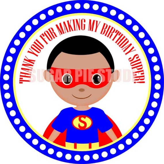 Instant download Superhero 2.5 inch Printable Favor tags / cupcake toppers Digital File