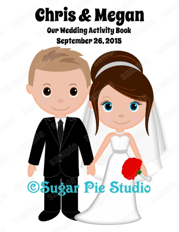 Wedding activity book Personalized Childrens favor coloring book Printable Digital file PDF or JPEG TEMPLATE