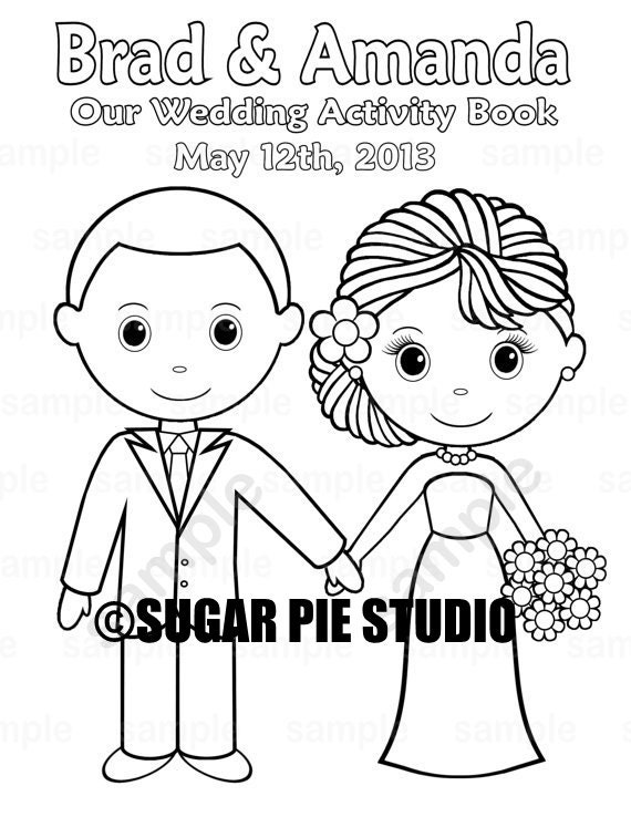 - Wedding Coloring Book Favor Kids 8.5 X 11 PDF Or JPEG Etsy