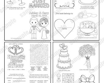 Western Country Cowboy Wedding coloring activity book