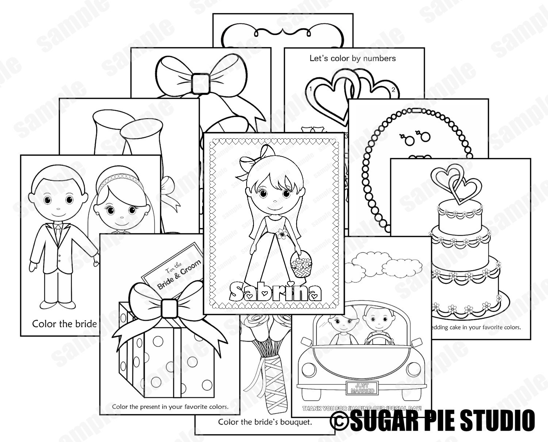 Printable Flower Girl Or Ring Bearer Wedding Activity Book Etsy Commercial Wiring Pdf