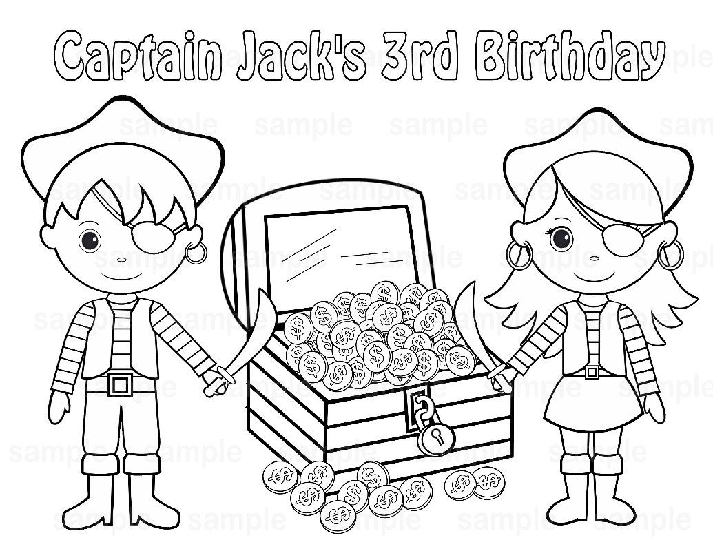 Personalized Printable Twins Pirate Birthday Party Favor ...