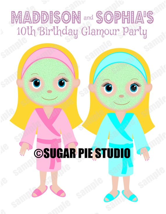 Twins Spa Makeup salon theme Favor Kids coloring activity Printable Personalized book PDF or JPEG TEMPLATE