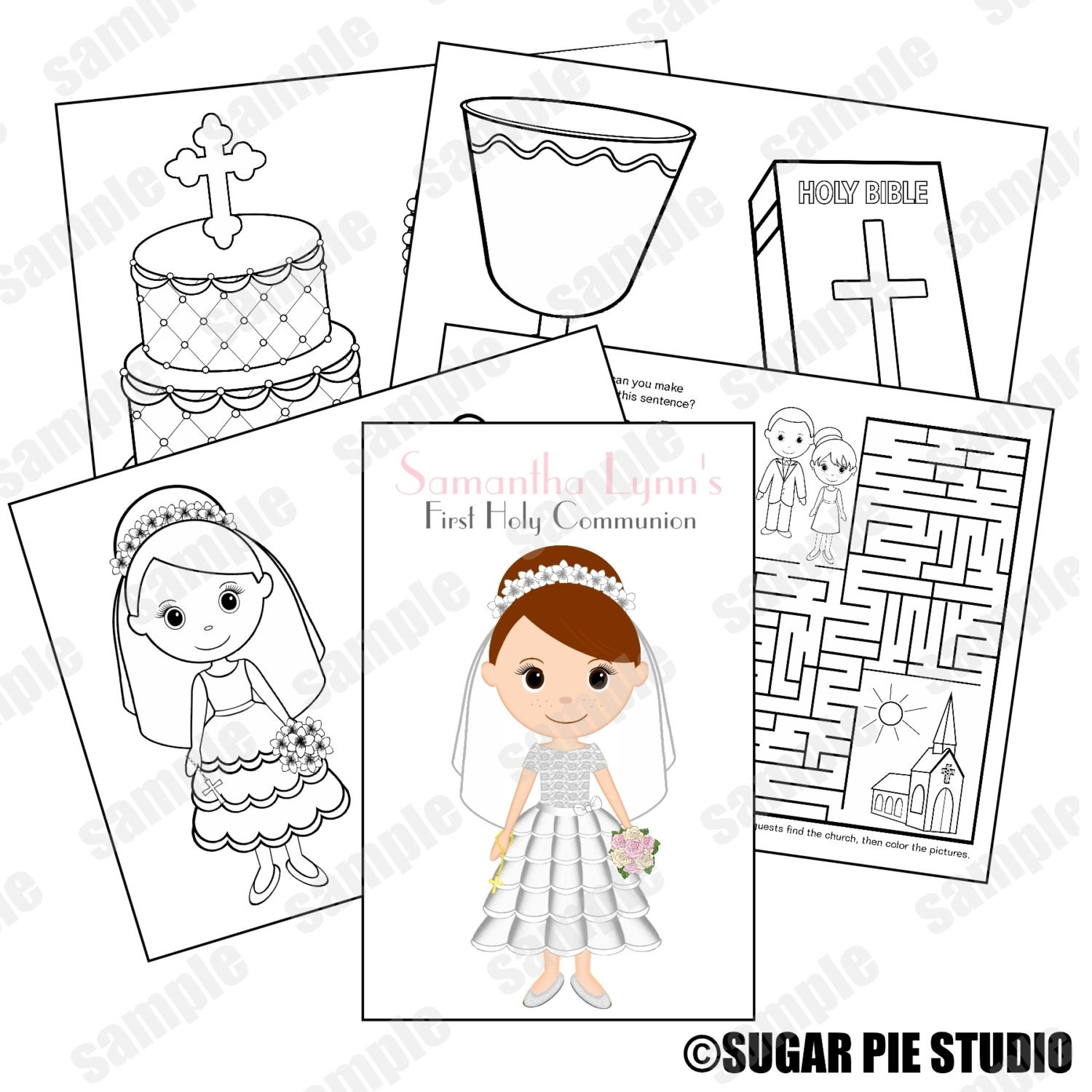 Communion coloring activity book PDF or JPEG TEMPLATE Printable