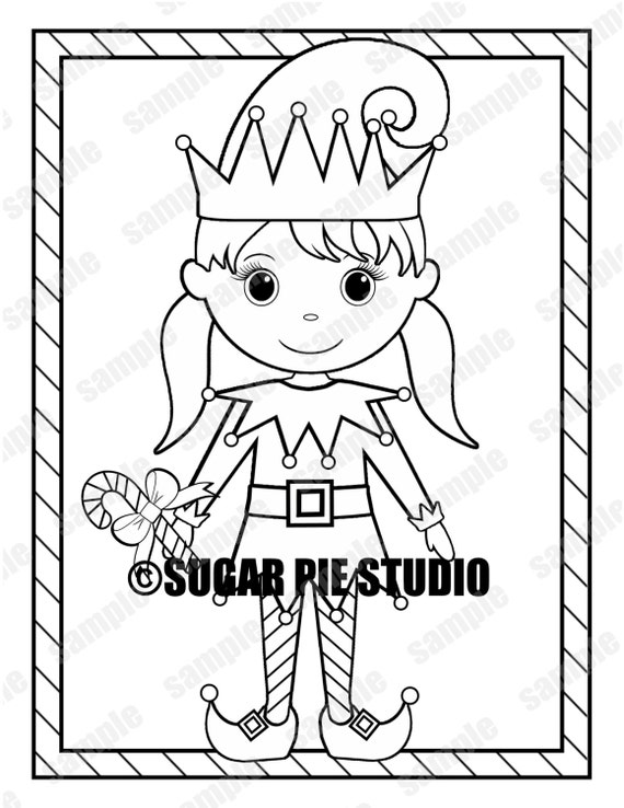 Christmas Coloring page activity Instant download Printable DIY PDF and JPEG file