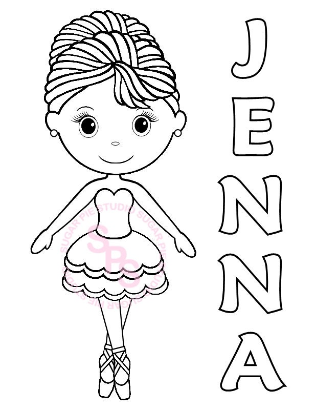This is a picture of Printable Ballerina Coloring Pages regarding coloring book