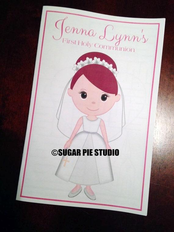 Communion coloring activity book PDF or JPEG TEMPLATE Printable Personalized Custom Communion Favor Kids