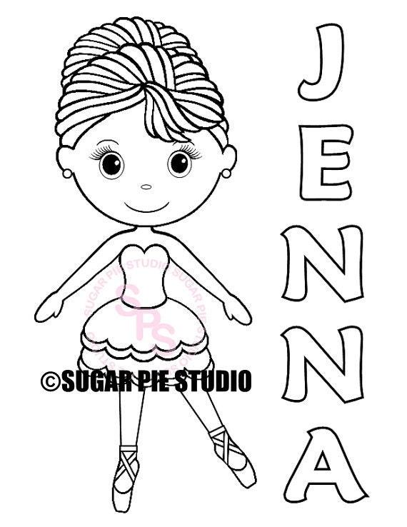 Coloriage Studio Danse.Personnalise Imprimable Ballerine Danse Anniversaire Cotillons Etsy