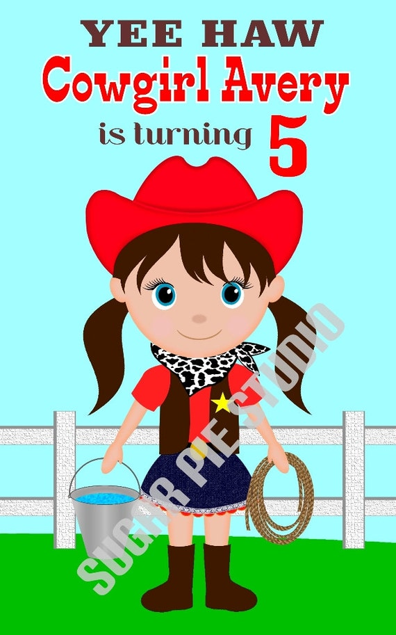 Cowgirl coloring activity book PDF or JPEG TEMPLATE Printable Personalized Custom 8.5x 5.5 Cowgirl Favor Kids