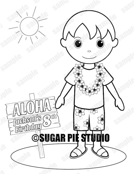 Luau hawaiano Favor fiesta de cumpleaños para niños niños | Etsy