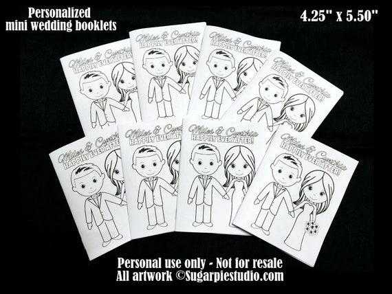 Wedding activity book Favor Kids mini size 4.25 x 5.5  PDF or JPEG TEMPLATE
