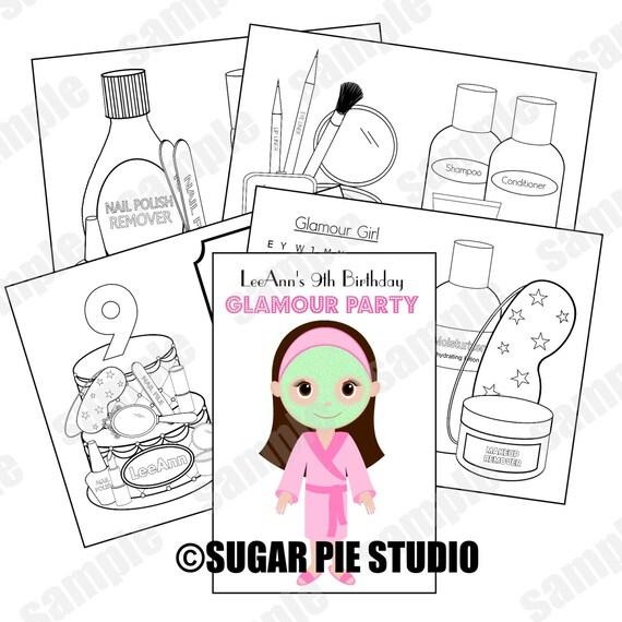 Salón Custom personalizada Spa maquillaje para imprimir tema | Etsy