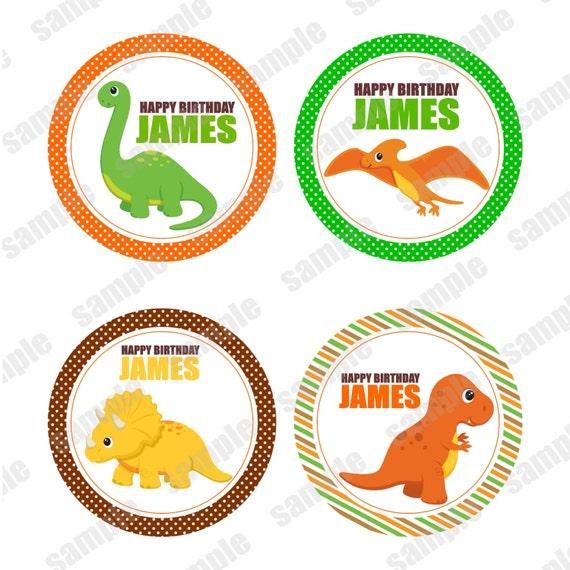 Dinosaur Dino Dino's Cupcake toppers or tags Printable Personalized Digital File DIY