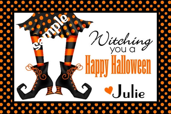 Halloween Favor tags Goody bags Printable favor tags Personalized Digital File