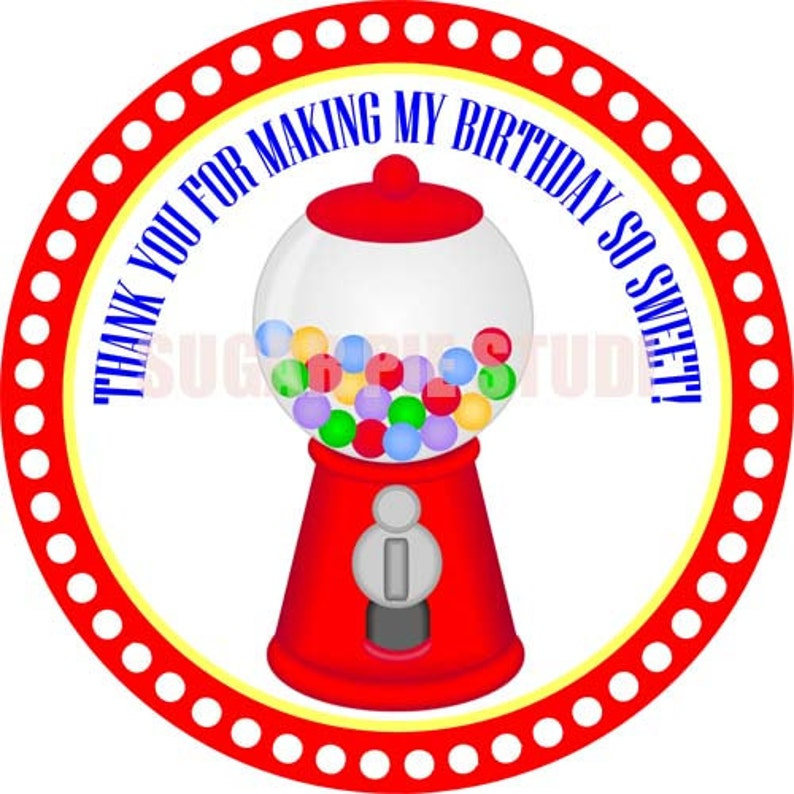 image relating to Gumball Machine Printable named Fast obtain Sweets sweet store gumball unit 2.5 inch Printable Like tags / cupcake toppers Electronic Document