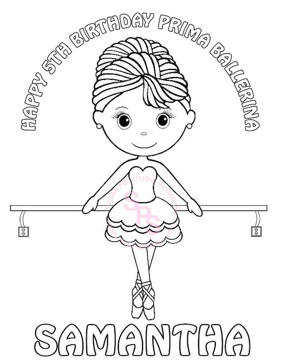 Personnalise Imprimable Ballerine Danse Anniversaire Cotillons Etsy