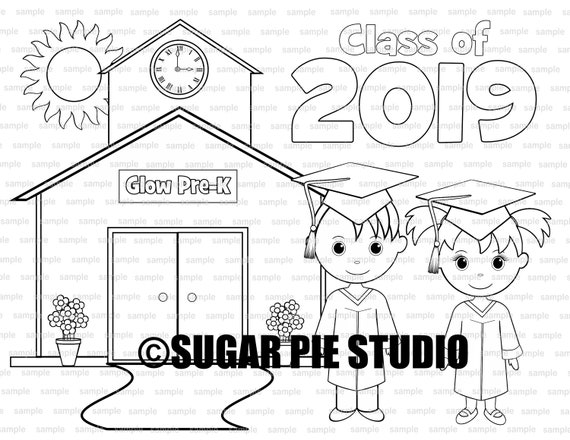 Graduation Coloring Page Party Favor Or Classroom Party PDF Etsy