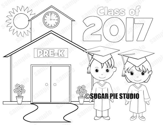 Printable PRE-K Graduation favor Kids coloring page