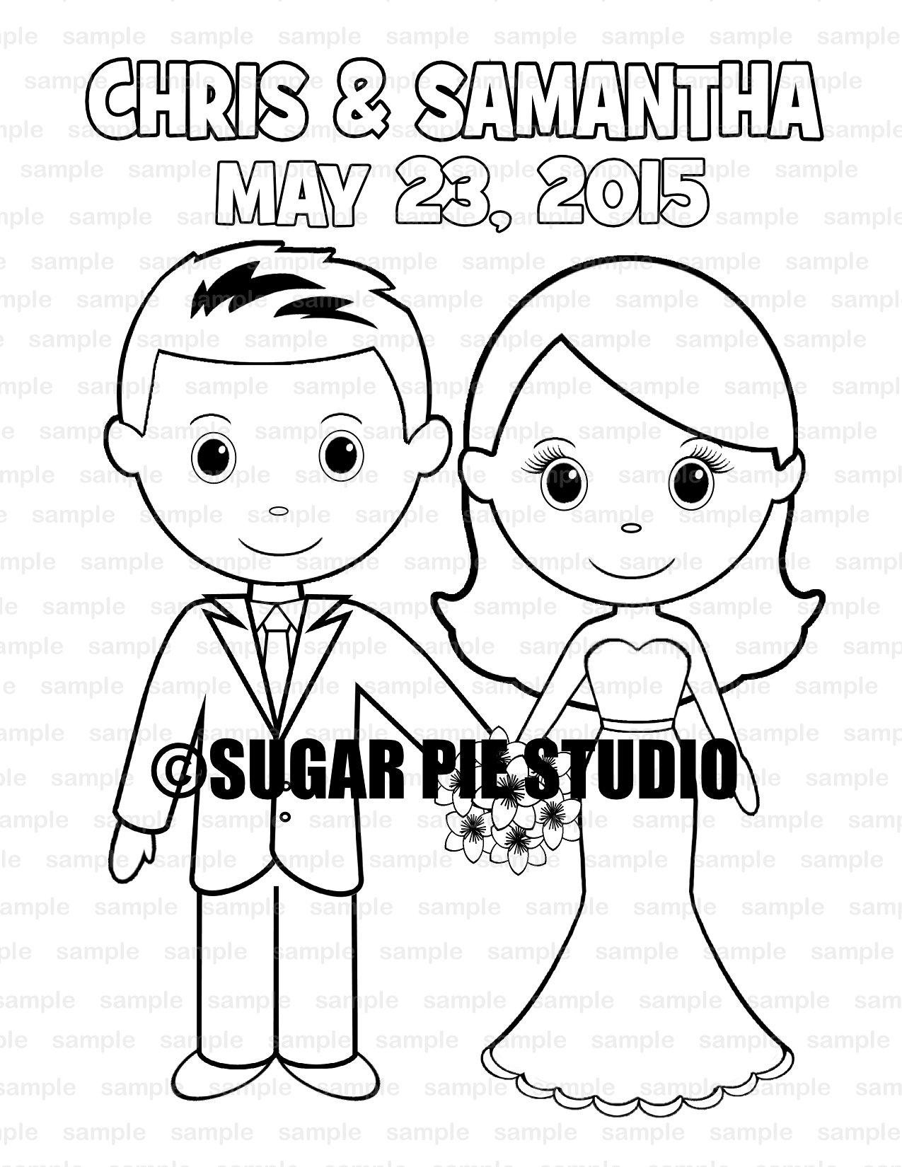 - Wedding Coloring Book Activity Favor Kids 8.5 X 11 PDF Or JPEG