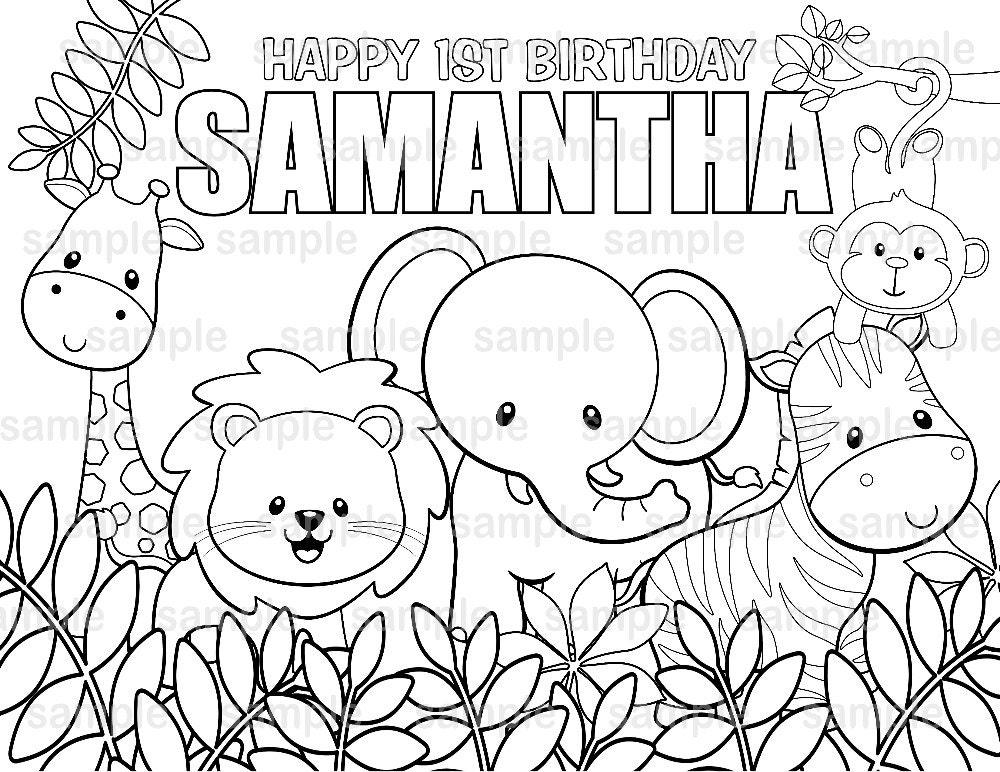 Personalized Printable Jungle Safari Birthday Party Favor ...