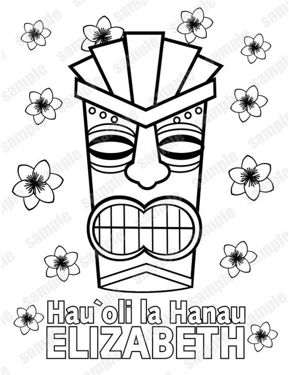 Luau hawaiano tiki máscara Favor fiesta de cumpleaños para | Etsy