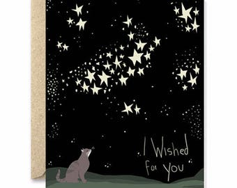 I wished for you - Cat greeting card