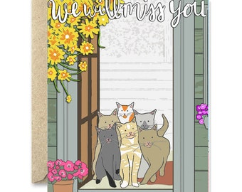 We Will Miss you - Cat greeting card