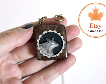 Wolf Necklace- Canada150 wooden necklace