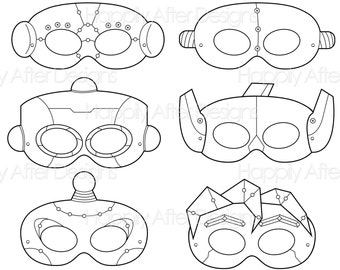 Robots Printable Coloring Masks Robot Mask Bots Costume Print Boys Girls Color