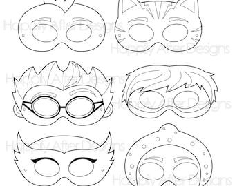 superhero printable coloring masks superhero mask hero mask etsy