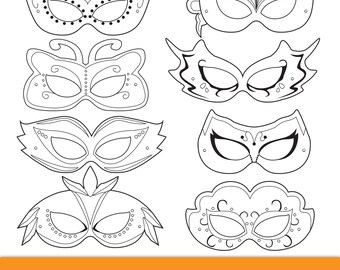 photo relating to Masquerade Mask Template Printable titled Masquerade Printable Masks masquerade mask printable Etsy