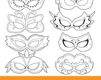picture regarding Printable Masquerade Mask Templates called Masquerade Printable Masks masquerade mask printable Etsy