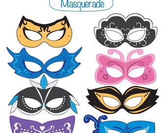 Masquerade Printable Masks Mask Costume Party Halloween